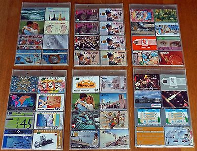 Phonecards from all around the world (242 cards)