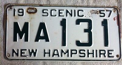 Vintage 1957 New Hampshire  License Plate Auto Car Tag