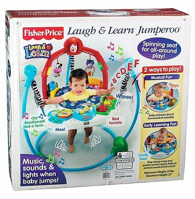 Fisher Price Musical Laugh and Learn Barnyard Jumper Jumperoo Exercise Baby Gym