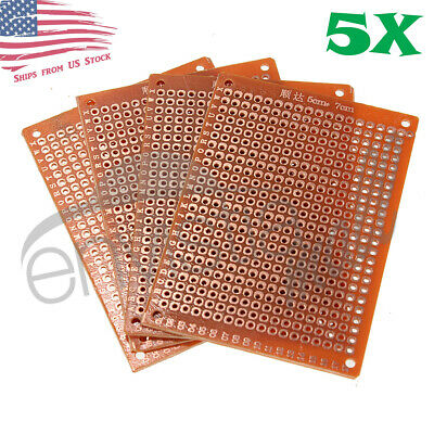5pcs 5cm x 7cm PCB Prototyping Perf Boards Breadboards DIY US