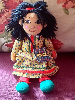"ROSIE and JIM Toy - 10"" Canal Narrow Boat ""Rosie"" Beanie Plush Rag Doll - Rare!"