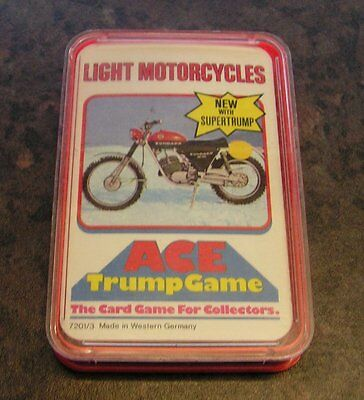 LIGHT MOTORCYCLES - ACE TRUMP GAME TOP TRUMPS - Vintage 80s - Boxed & Complete