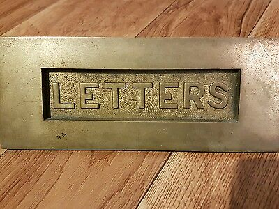 Edwardian style solid brass front door letters letterbox letter box letter plate