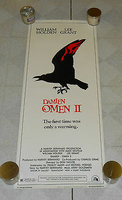 original DAMIEN: OMEN II insert poster William Holden Lee Grant