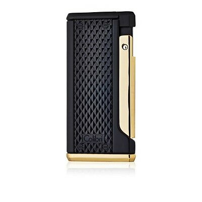 Colibri Monza III Triple Torch Lighter - Matte Black and Gold