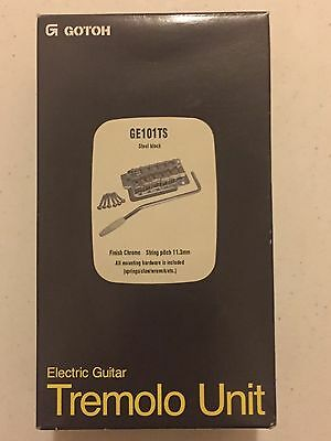 GOTOH Electric Guitar Tremolo GE101TS Chrome Finish NEW IN BOX - FREE SHIPPING!