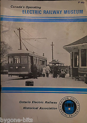 Canada's Operating Electric Railway Musuem Booklet Trains