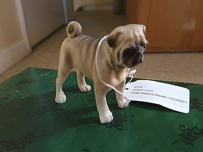 North Light Hand Painted Pug - Fawn Figurine - New - Boxed