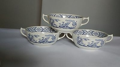 Furnivals Old Chelsea Set Of 3 Cream Soup Bowls / Cups ONLY - No Saucers