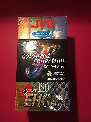 4 x JVC High Performance EHG 180 Blank VHS Cassette Tapes   New   Free Post