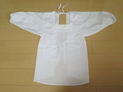 Japanese Style Apron Kappogi White Cook's apron From Japan (5378)