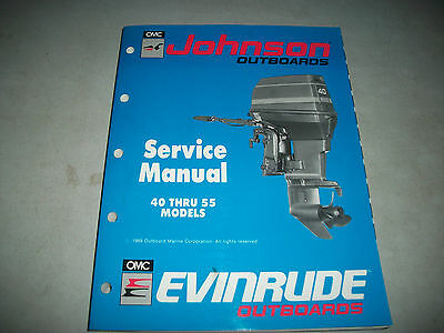 1990 Evinrude/johnson Outboards Service Shop Repair Manual 40 Thru 55 Models