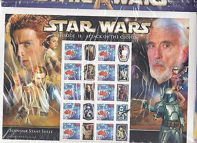 Star Wars Limited Edition Stamp Sheet.