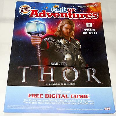 10 Pc Lot Burger King Club BK Adventures Magazine Marvel Avengers Thor Party