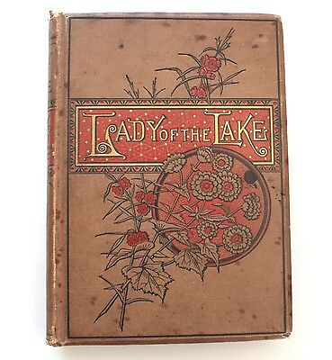 1884 The Lady Of The Lake Sir Walter Scott Poem Hardcover Book Illustrated