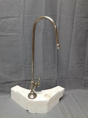 Antique Nickel Brass Industrial Gooseneck Faucet Vintage Old Plumbing 2111-16