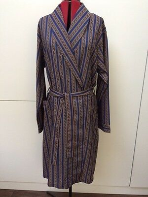Vintage 1980's Tootal Shawl Collar Smoking Jacket Dressing Gown Robe X/Large