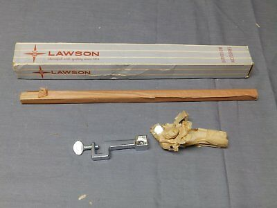"Vtg Chrome NOS Toothbrush Sink Mounted 14"" Towel Bar Old Lawson Fixture 2123-16"