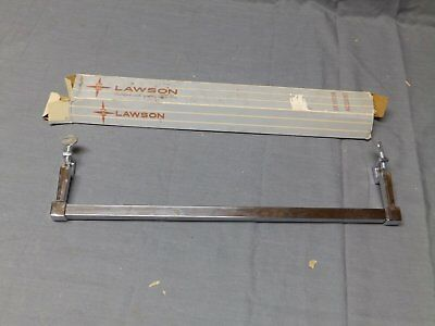 "Vtg Chrome NOS Sink Apron Mounted 14"" Towel Bar Old Lawson Fixture 2124-16"