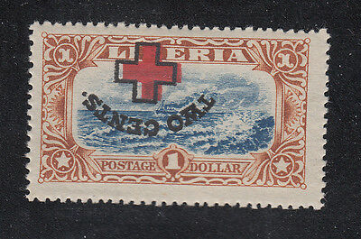 Liberia  # B13 MINT INVERTED SURCHARGE Ship at Sea
