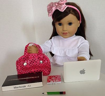 "Laptop Computer for American Girl Doll 18"" Accessories SET"