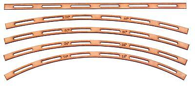"Track Laying Templates set of five. 18"", 24"", 30"", 36"" radius + straight. OO/HO"
