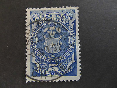 Chile - Tax Stamp - Coat Of Arms - 5 Centavos (55)