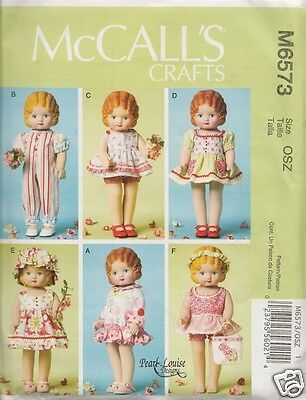 6573 18 Inch Doll Clothes New Sewing Pattern Mccalls 6573