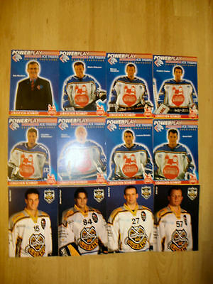 12 Ice Hockey players photocards from Germany & Switzerland, including ex-NHL