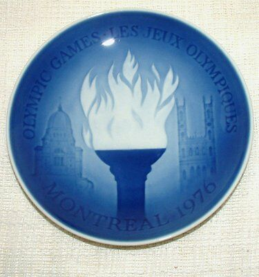BING & GRONDAHL Porcelain WALL PLATE Olympic Games MONTREAL 1976