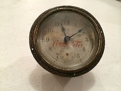 Antique 1900-1905 Drink Coca Cola Bedside Wind Up Clock Coke -S.T.- No Celluloid