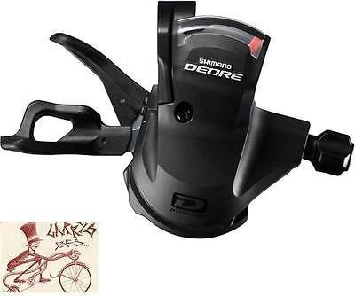 Shimano Deore M610 Rapid Fire 10-Speed Black Rear Bicycle Right Shifter