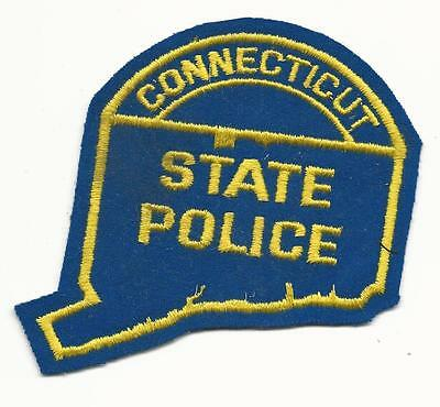 """CT Connecticut State Police Patch Sew On Free Shipping 3 3/4"""" x 5 1/2"""""""