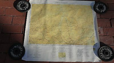 Antique Vintage Map South America 1947 Bello Horizonte American Geographical