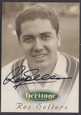 56 1996 Futera Cricket Heritage Collection Signature Card Rex Sellers