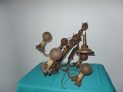 Vintage Antique Art Deco  Chandelier Needs Rewired From Old Age