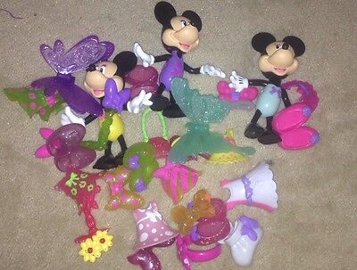 """Disney Minnie Mouse Bow-tique Lot LARGE 6""""  Snap-on Clothes Fisher-Price"""