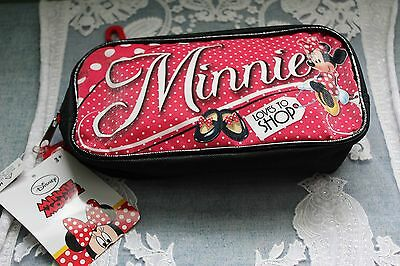 Disney Minnie Mouse Pencil Make Up Travel Case Minnie Loves To Shop Sparkle Red