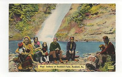 Hopi Indians At Buckhill Falls Pennsylvania Vintage Postcard, Oct15