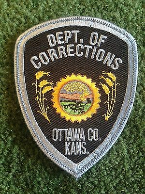 Ottawa Country Kansas State Corrections Police Law Enforcement Patch