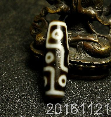 9 Eyes Tibet Agate Old Dzi Bead Amulet for Gift 1611211558
