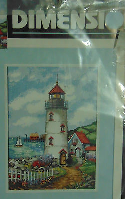 Dimensions  Lighthouse Cove by Edie Hopkins 1995 CrossStitch Kit