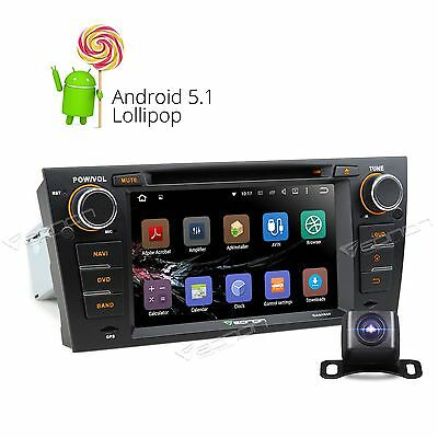 """CAM+ 7"""" Android 5.1 Car Stereo DVD GPS SAT Radio CD 1024x600 for BMW E90-E93 C"""