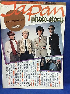 JAPAN PHOTO STORY 1983 01 Music Life Magazine Book Special Issue David Sylvian