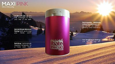 iHateTheCold.com Maxi Pink Hand Warmer. Hours of Heat! No Chemicals! Handwarmer