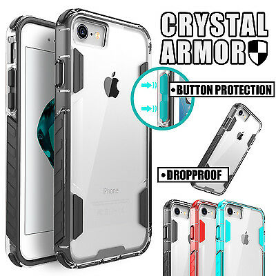 iPhone 8 7 Plus Case for Apple Crystal Armor Shock-proof Protective Bumper Cover