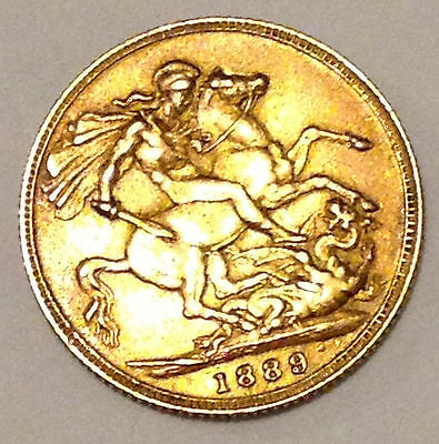 1889 E.f. Queen Victoria Full Gold Sovereign Of The Jubilee Head