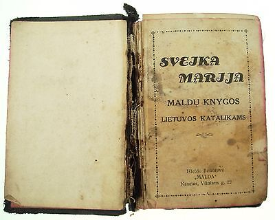Vintage 1932 Old  Prayer Religious Formulary Book  Lithuanian Lietuva Nr 6784