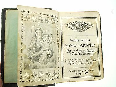 Vintage 1927 Old  Prayer Religious Formulary Book  Lithuanian Lietuva Nr 6785