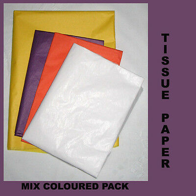 20 Mix Colour pak Tissue Paper Gift Wrap Craft Party Packing 500x750mm Acid Free
